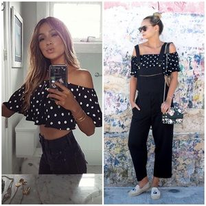 HOUSE OF HARLOW x REVOLVE POLKA DOT CROP SHOPBOP